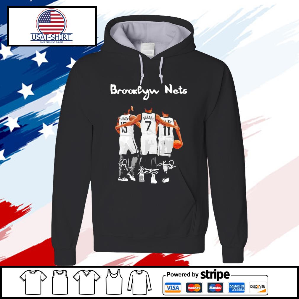 Brooklyn nets James Harden Kevin Durant and Irving signature s hoodie