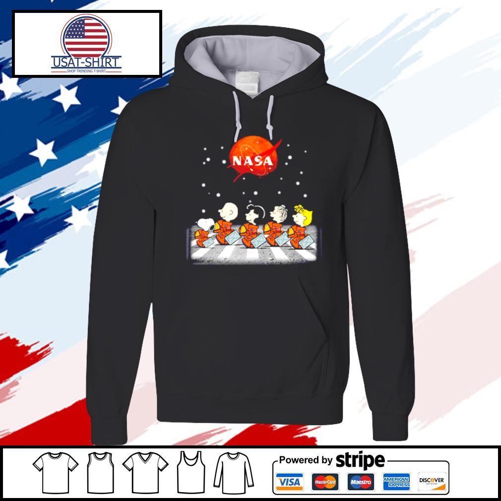 Nasa Charlie Brown Snoopy and friends abbey road s hoodie