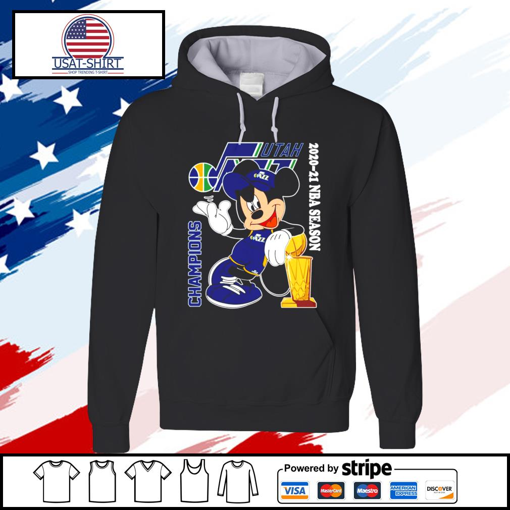 Utah Jazz Mickey 2020-21 NBA season champions s hoodie