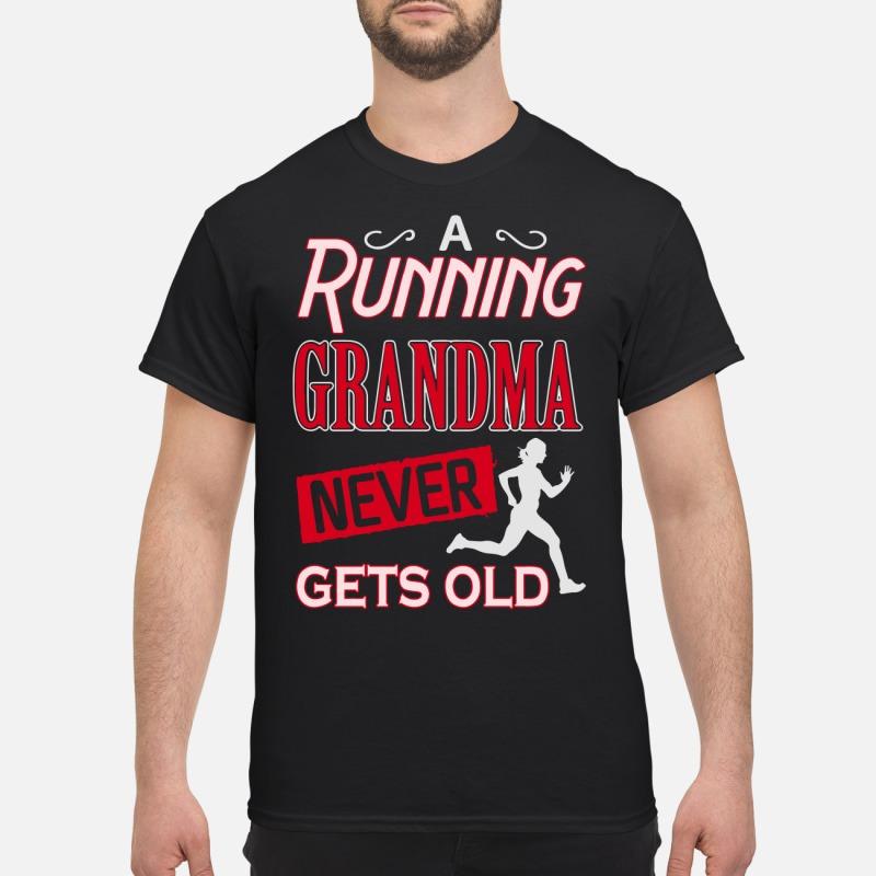 A running grandma never gets old Guys Shirt
