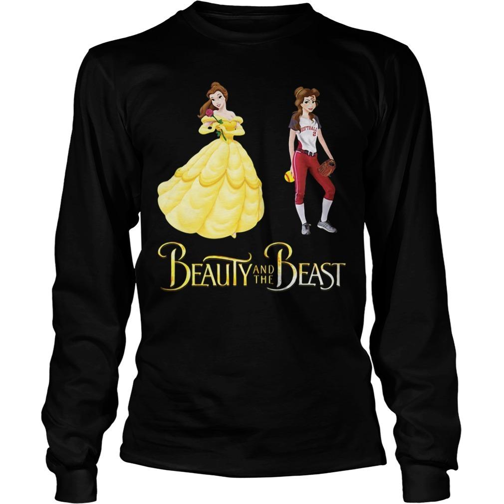 Beauty and the Beast Belle baseball Longsleeve Tee