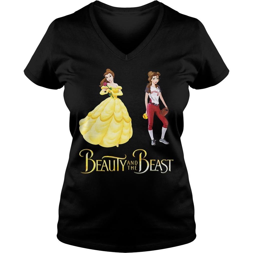 Beauty and the Beast Belle baseball V-neck T-shirt