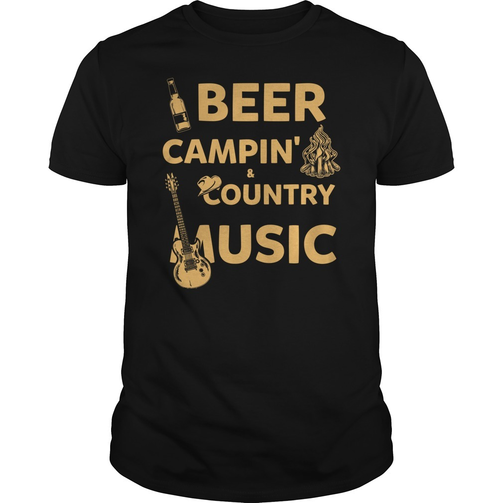Beer camping country music shirt