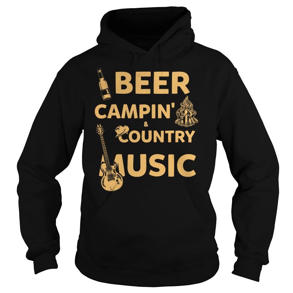 Beer camping country music Hoodie