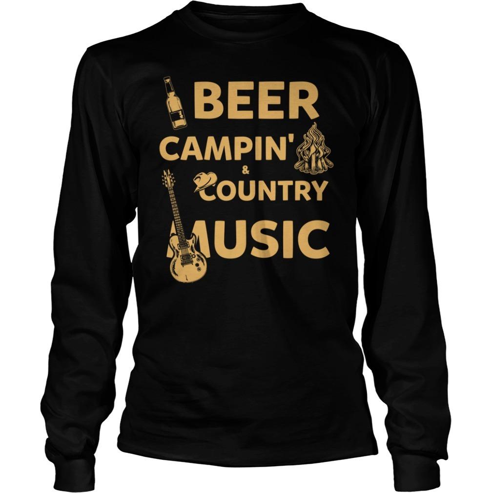 Beer camping country music Longsleeve Tee