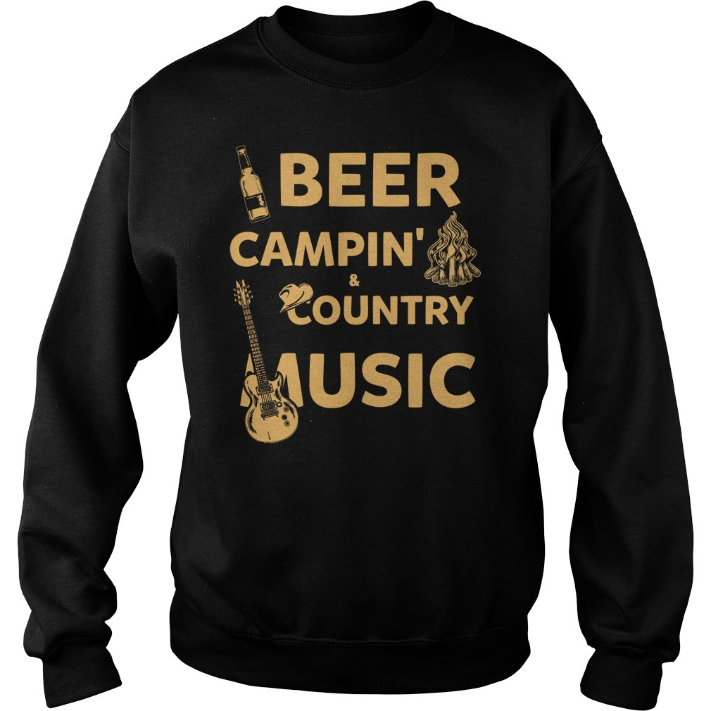Beer camping country music Sweater