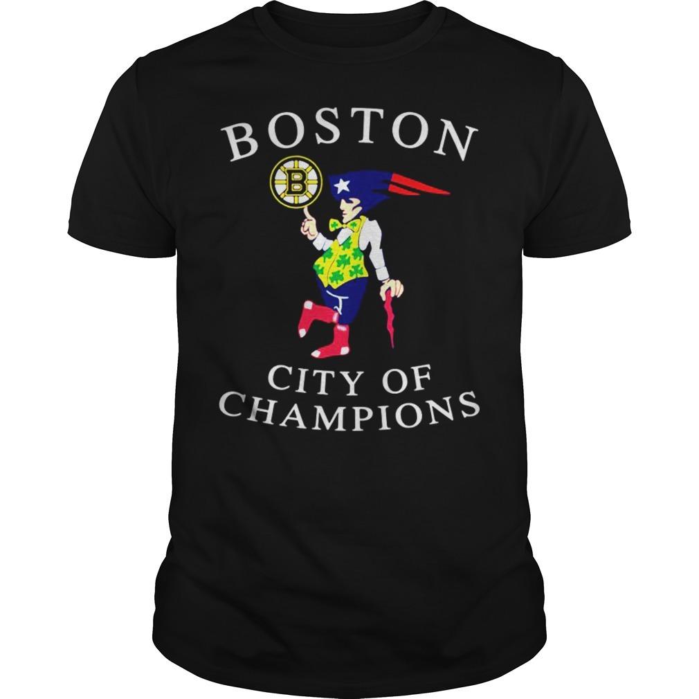 Boston city of champions shirt