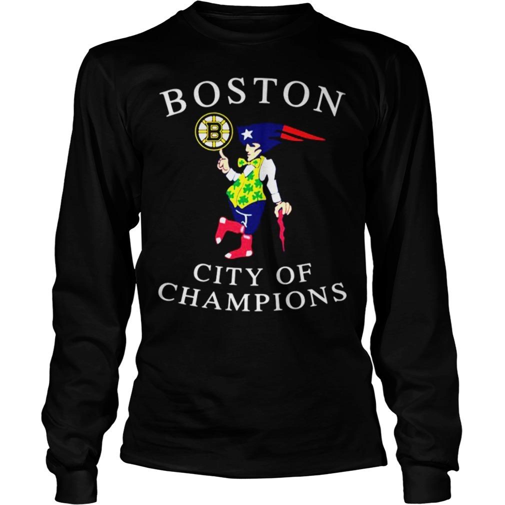 Boston city of champions Longsleeve Tee