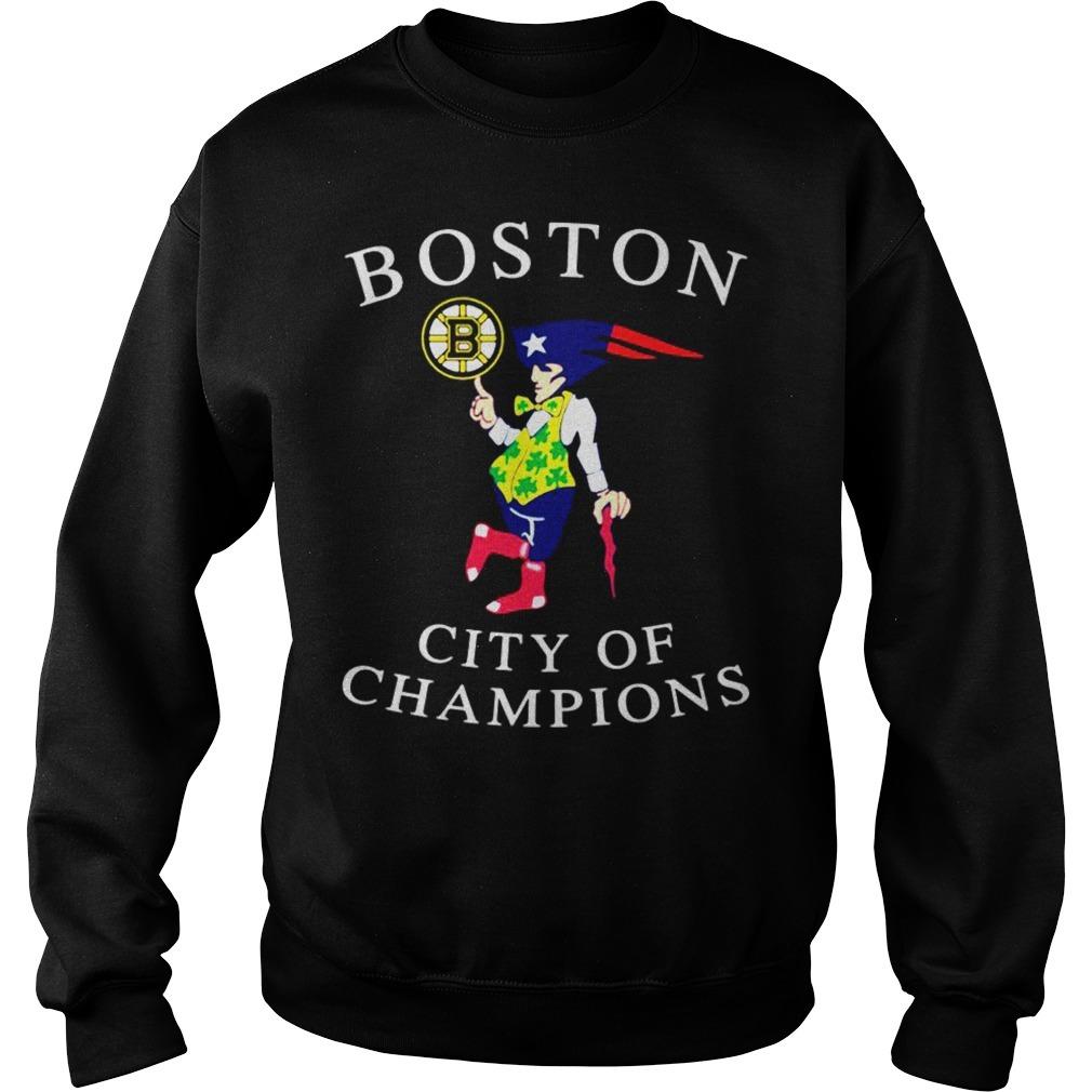 Boston city of champions Sweater