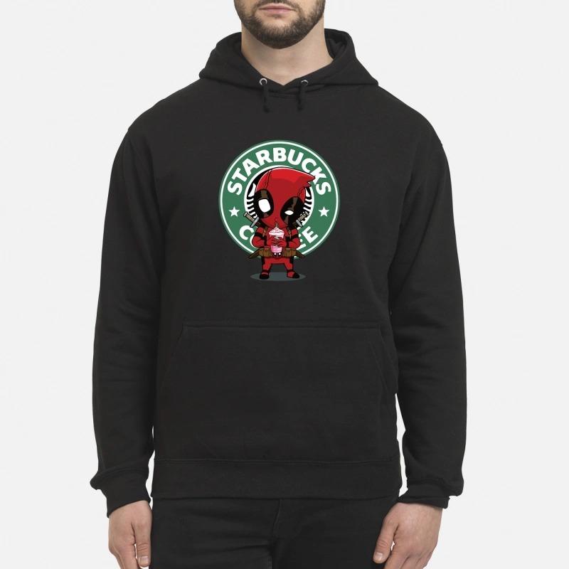 Deadpool drinking Starbucks coffee Hoodie
