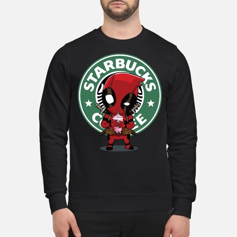 Deadpool drinking Starbucks coffee Sweater