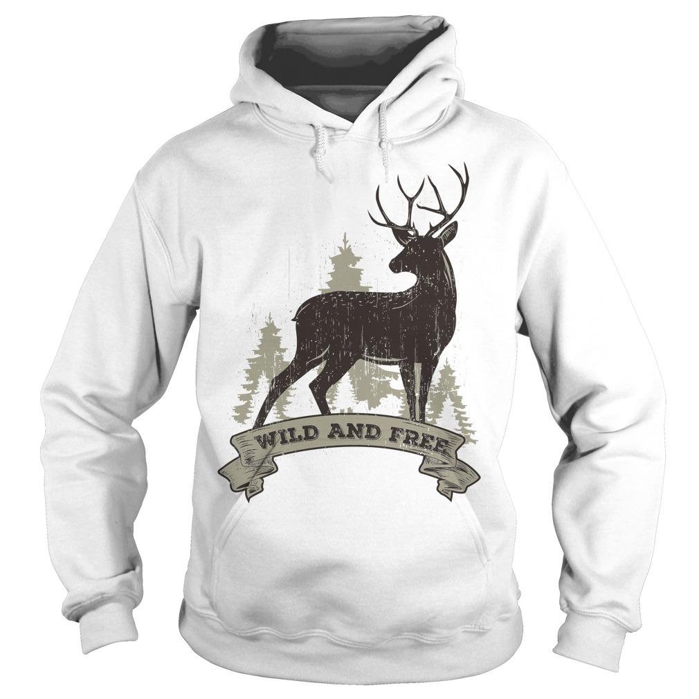 Deer wild and free Hoodie