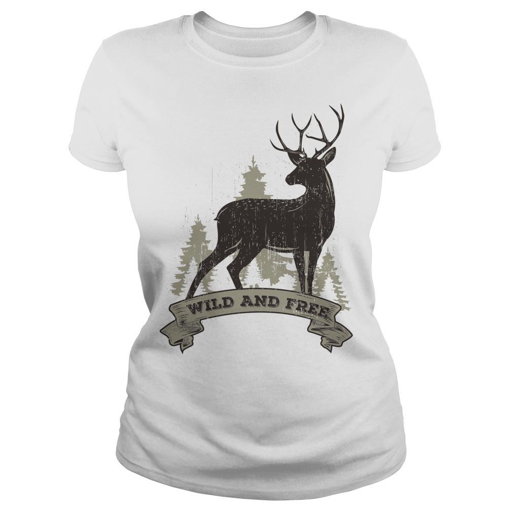 Deer wild and free Ladies Tee