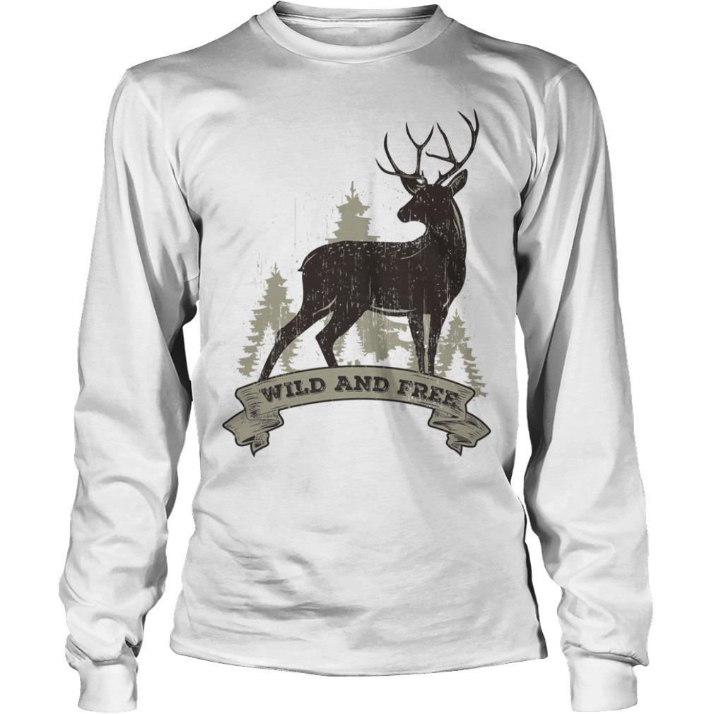 Deer wild and free Longsleeve Tee