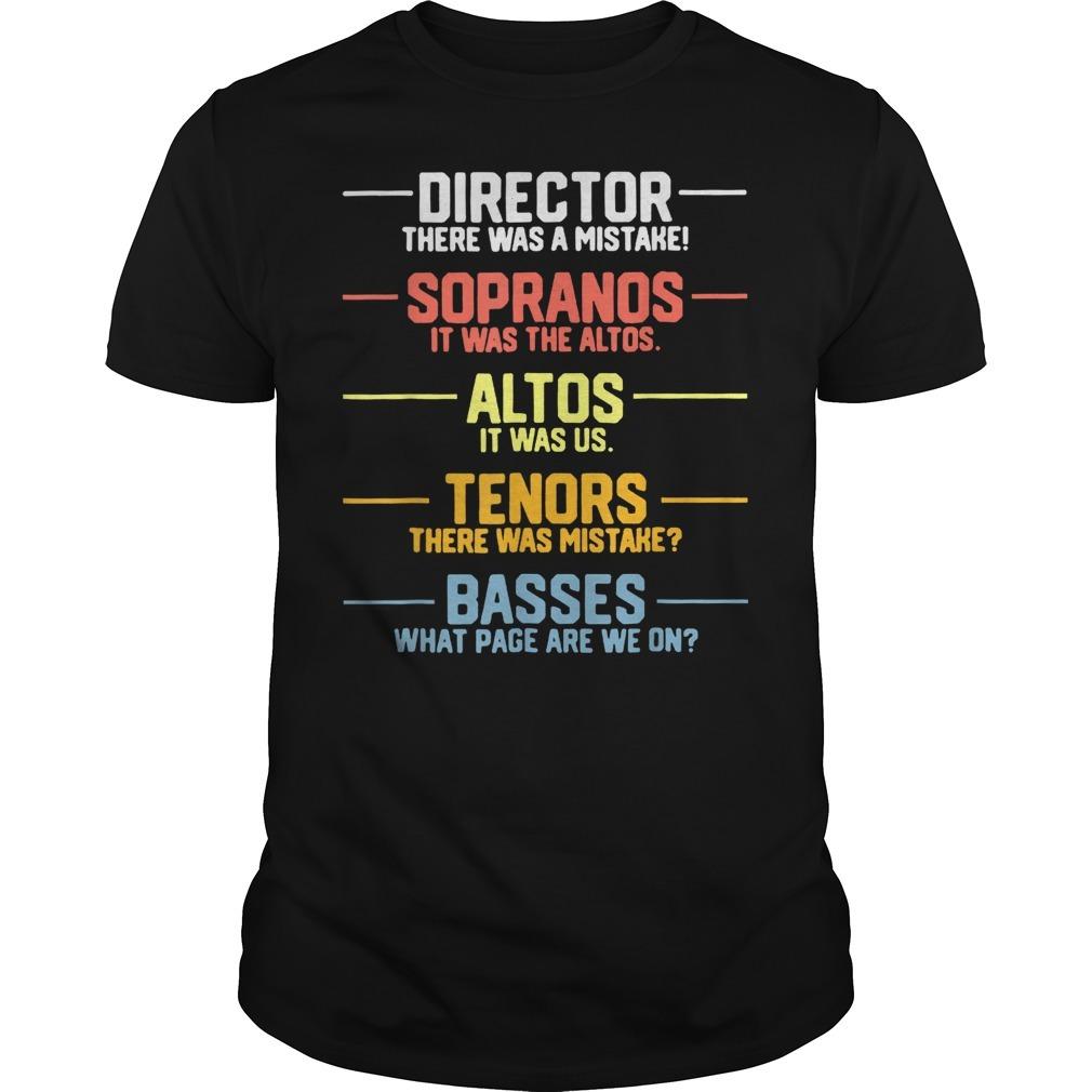 Director sopranos altos tenors basses shirt