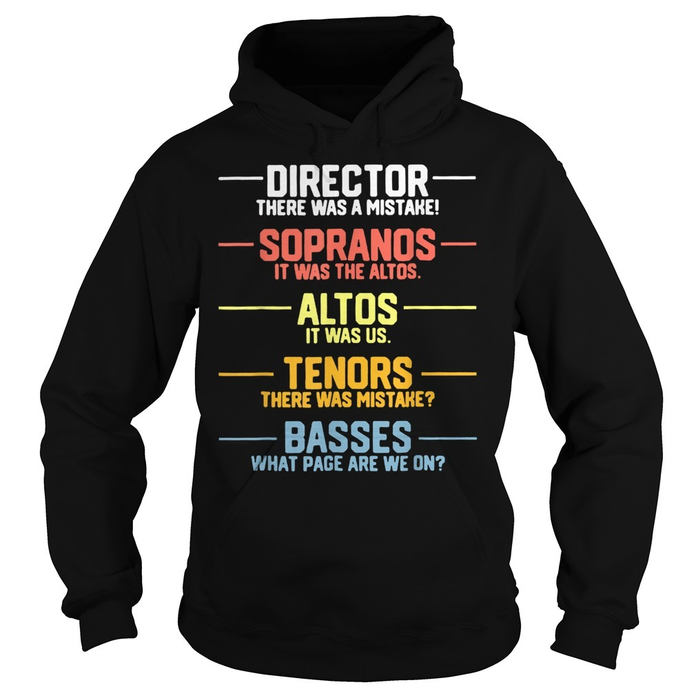 Director sopranos altos tenors basses Hoodie