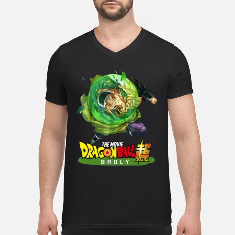 Dragon ball 2019 super broly V-neck T-shirt