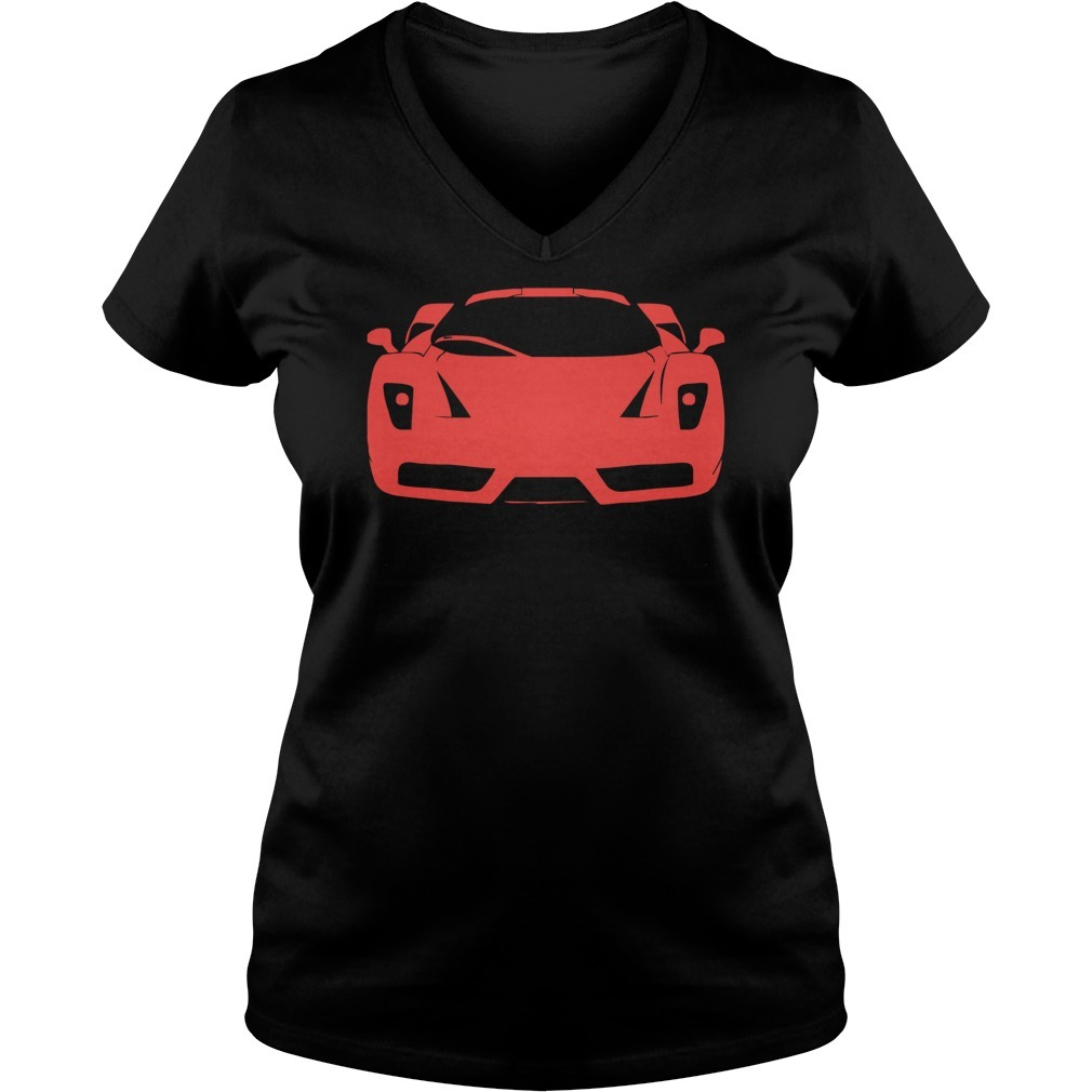 Ferrari enzo modena tifosi italien monza racing car exot race ita V-neck T-shirt