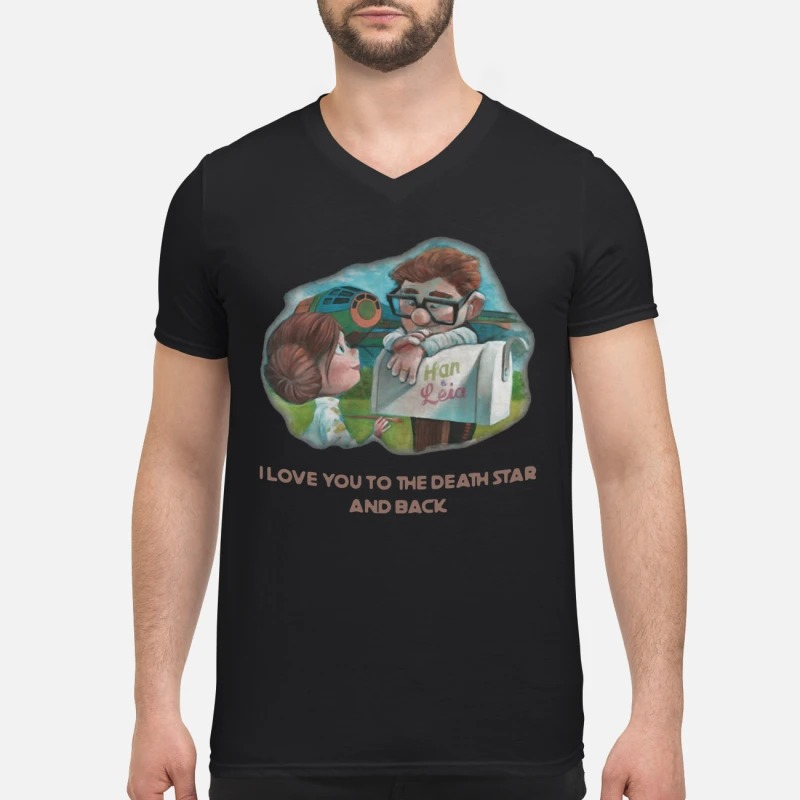 Han and Leia I love you to the death star and back V-neck T-shirt