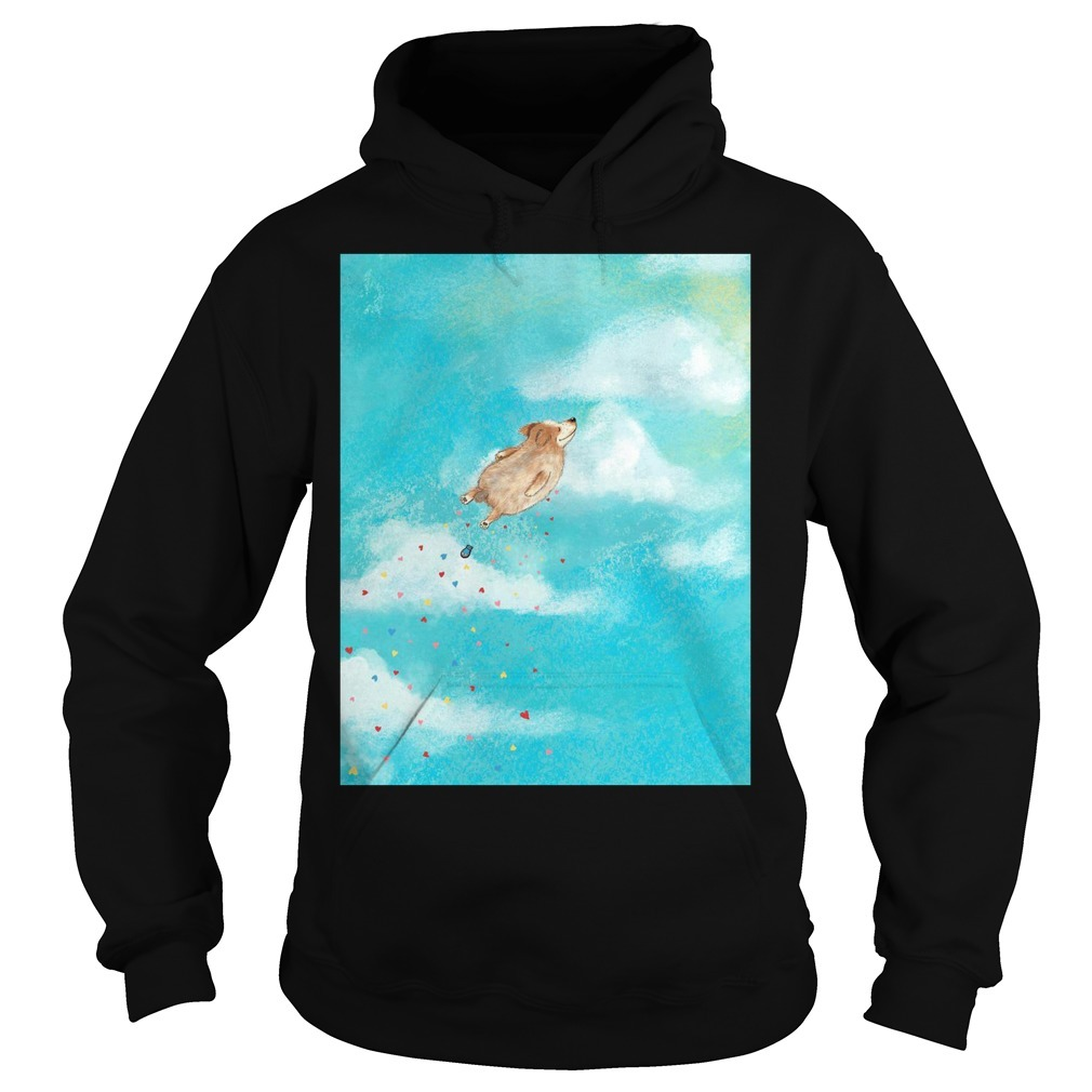 Jane Arbuckle dog flying mug Hoodie
