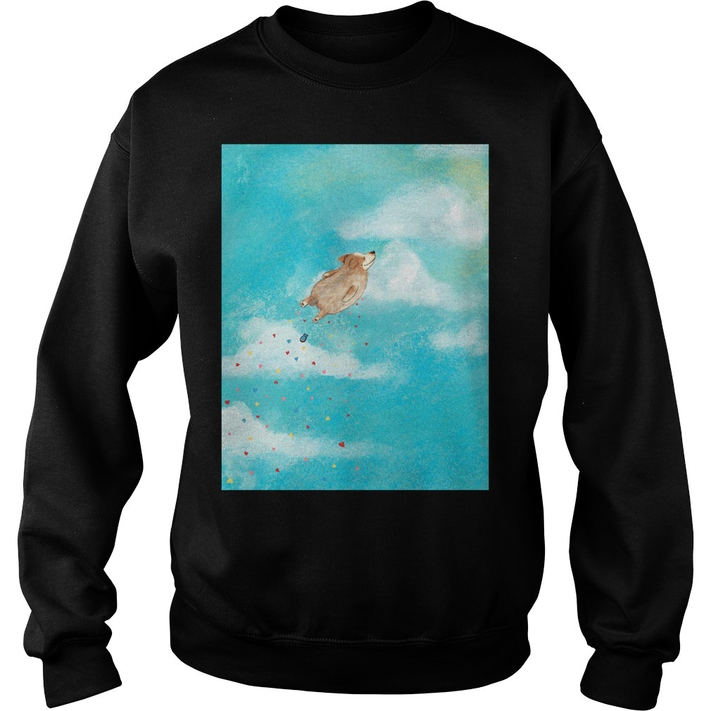 Jane Arbuckle dog flying mug Sweater
