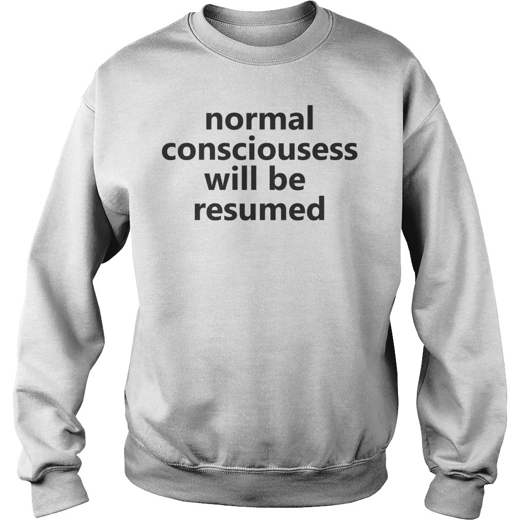 Lesley Ann Brandt normal consciousness will be resumed Sweater