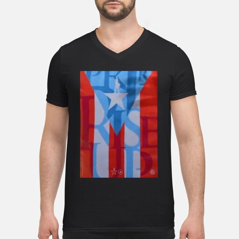 Lin-manuel Miranda Hamilton Puerto Rico V-neck T-shirt