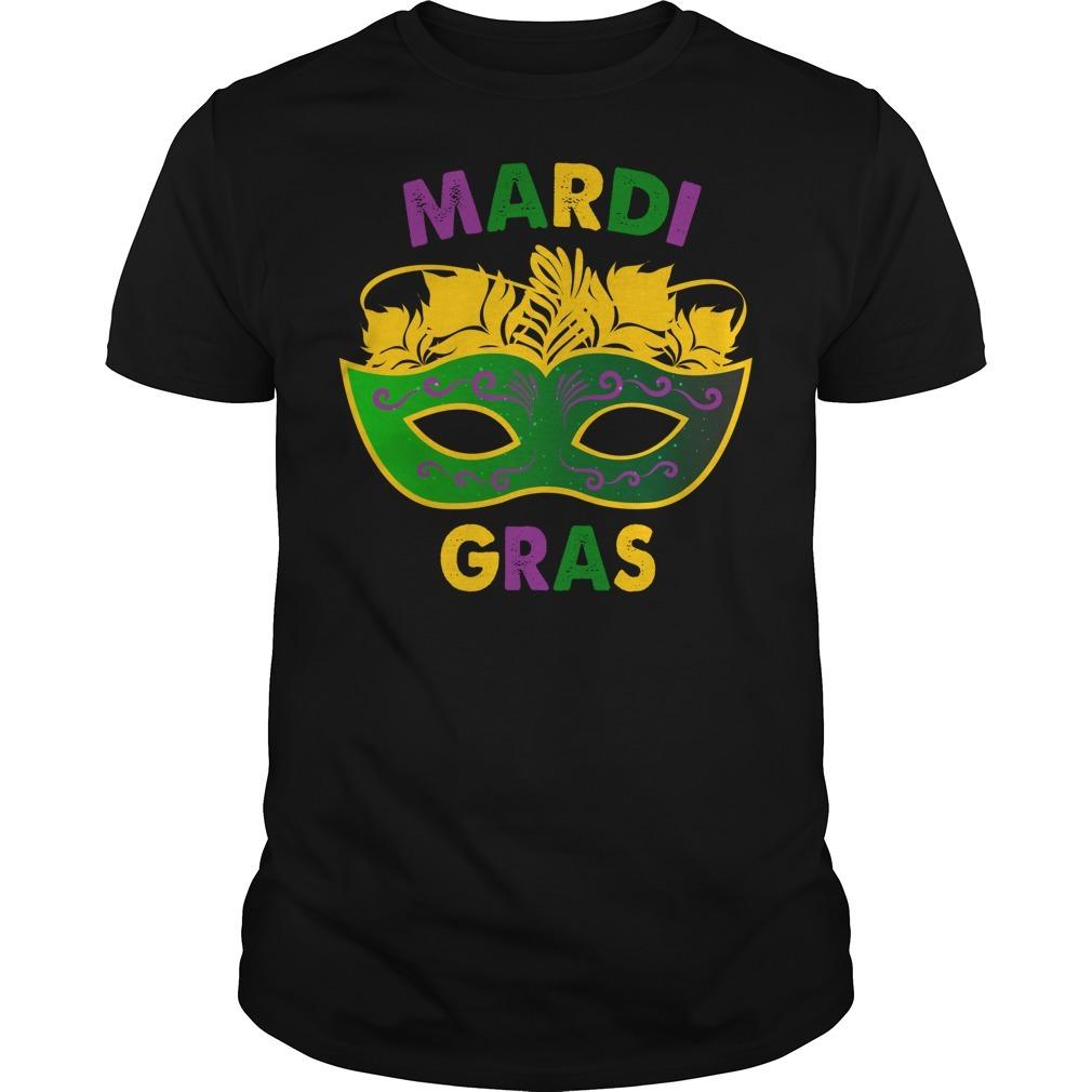 Mardi Gras day mask shirt