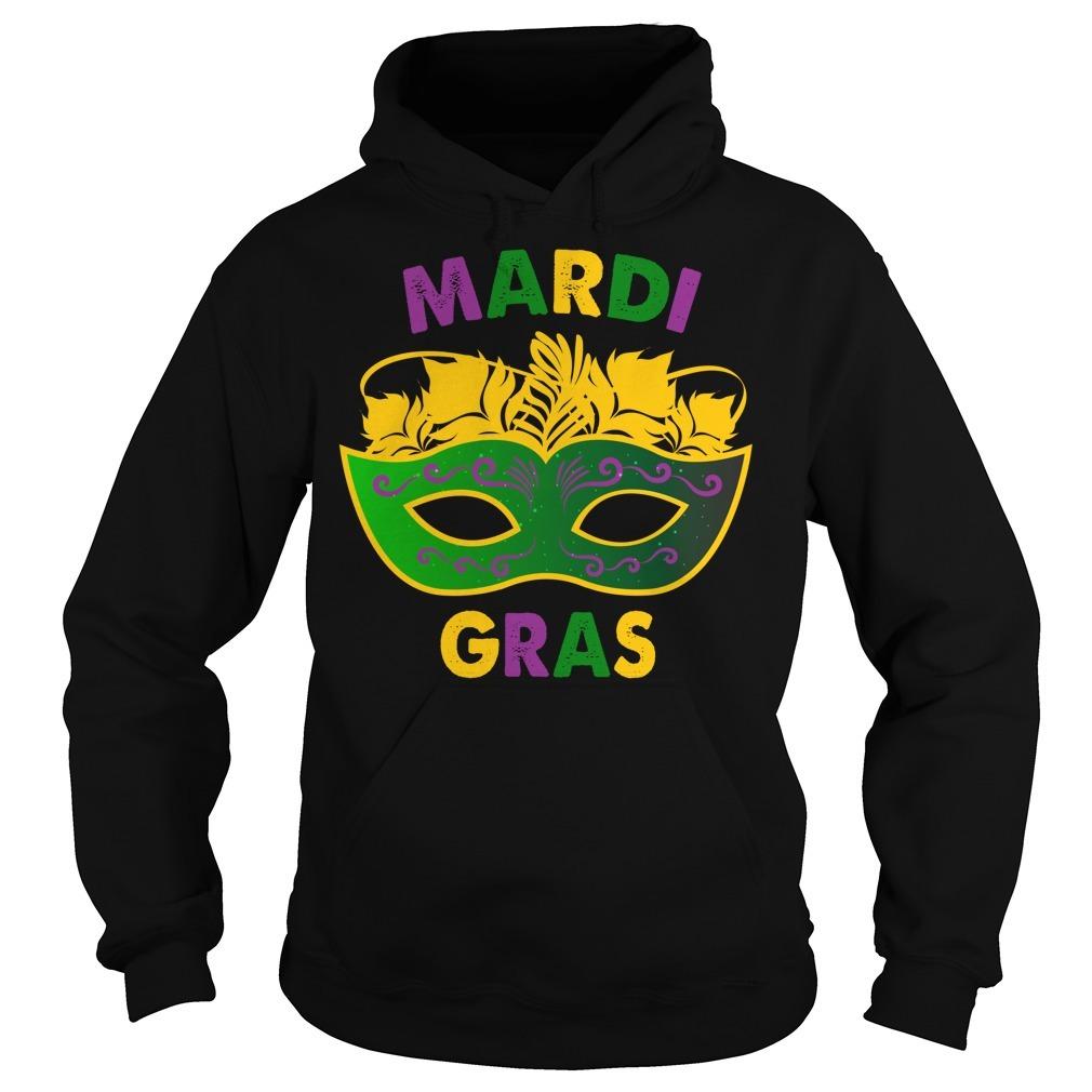 Mardi Gras day mask Hoodie