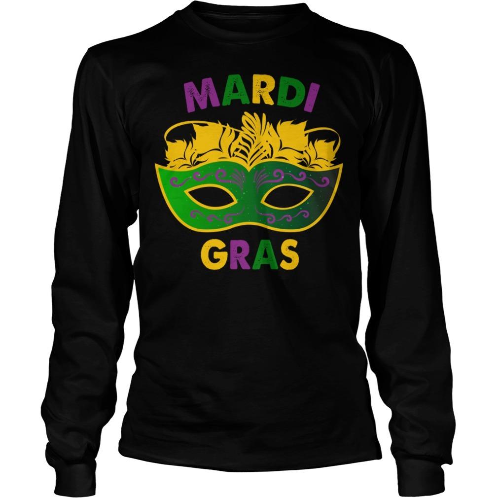 Mardi Gras day mask Longsleeve Tee