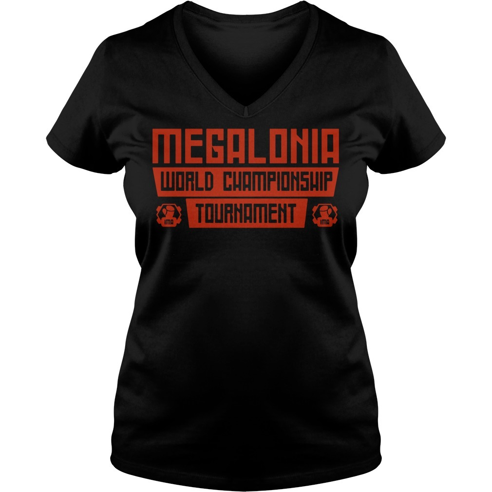 Megalonia world championship tournament V-neck T-shirt