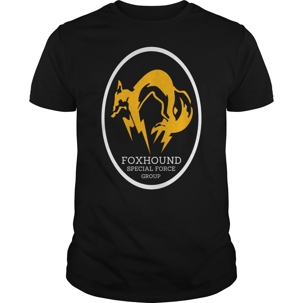 Metal gear solid foxhound apecial force group shirt