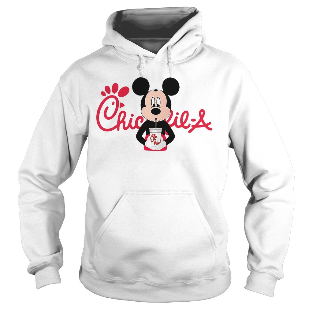 Mickey mouse drinking Chick fil a Hoodie