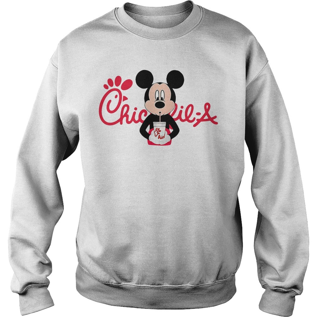 Mickey mouse drinking Chick fil a Sweater