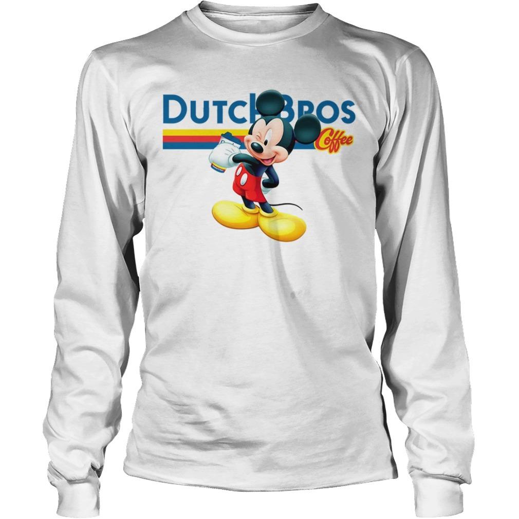 Mickey mouse Dutch Bros coffee Longsleeve Tee