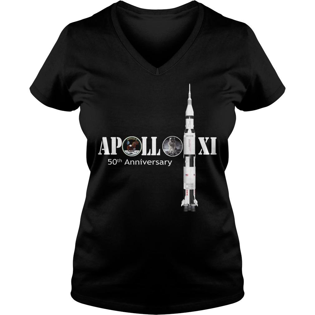 Nasa Apollo 11 50th anniversary V-neck T-shirt