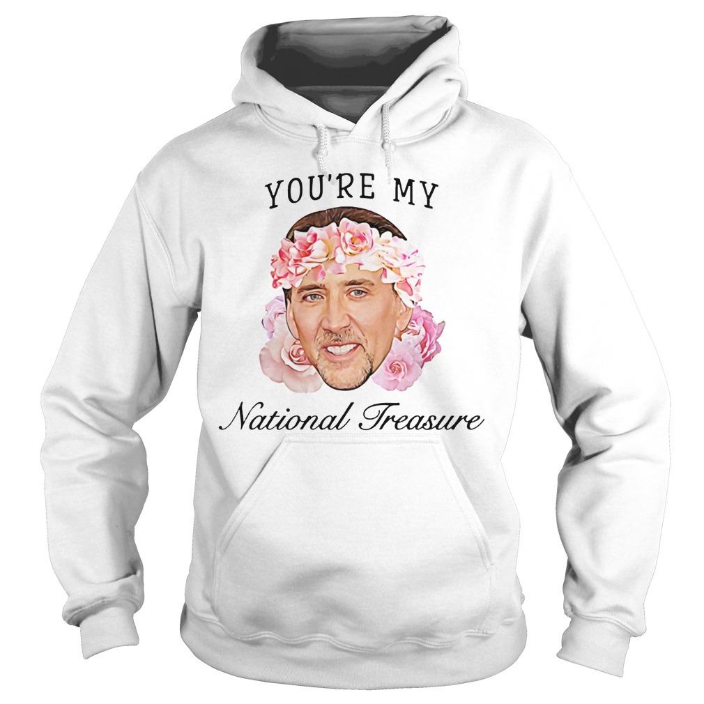 Nicolas Cage you're my national treasure Hoodie