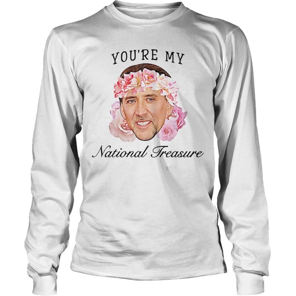 Nicolas Cage you're my national treasure Longsleeve Tee