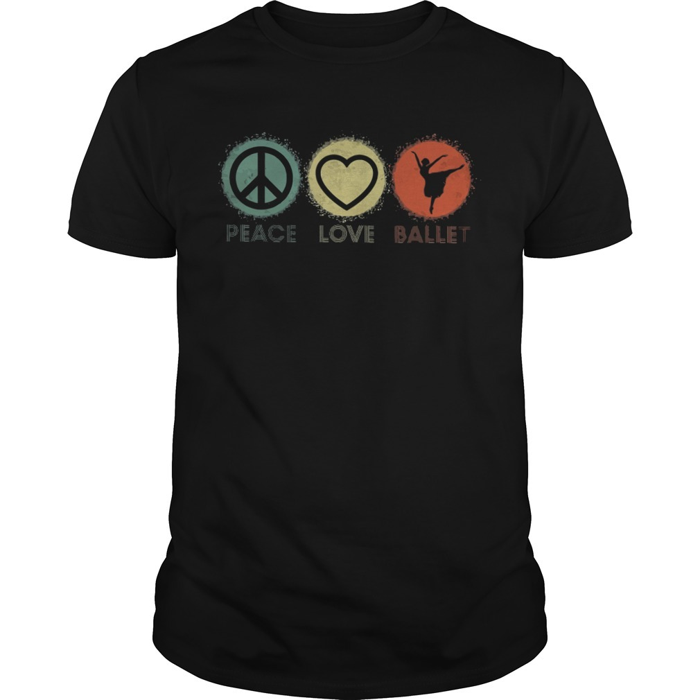 Peace love ballet Guys Shirt