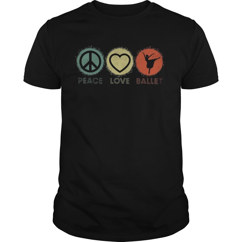 Peace love ballet shirt