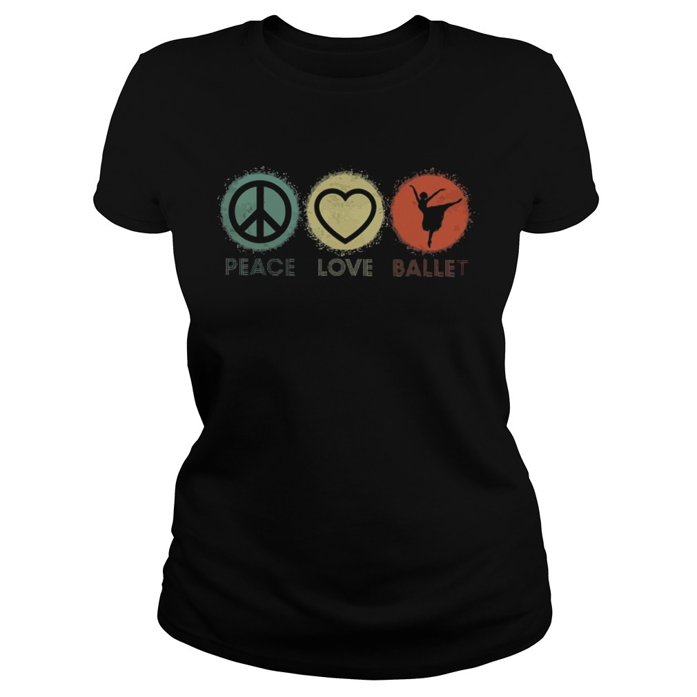 Peace love ballet Ladies Tee