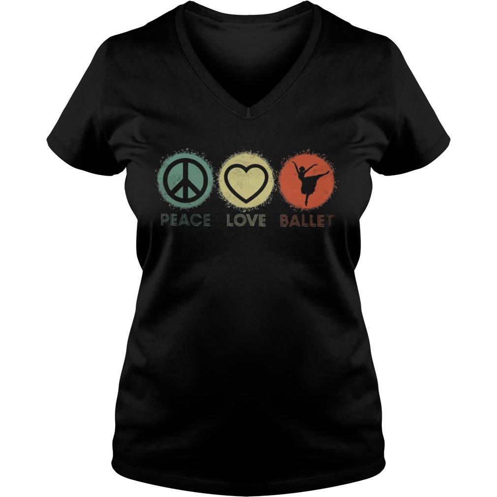 Peace love ballet V-neck T-shirt