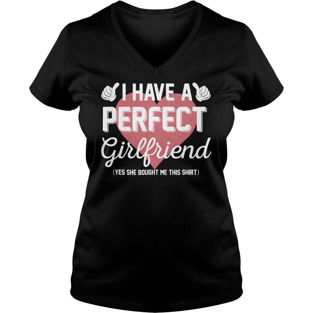 Perfect girlfriend valentine V-neck T-shirt