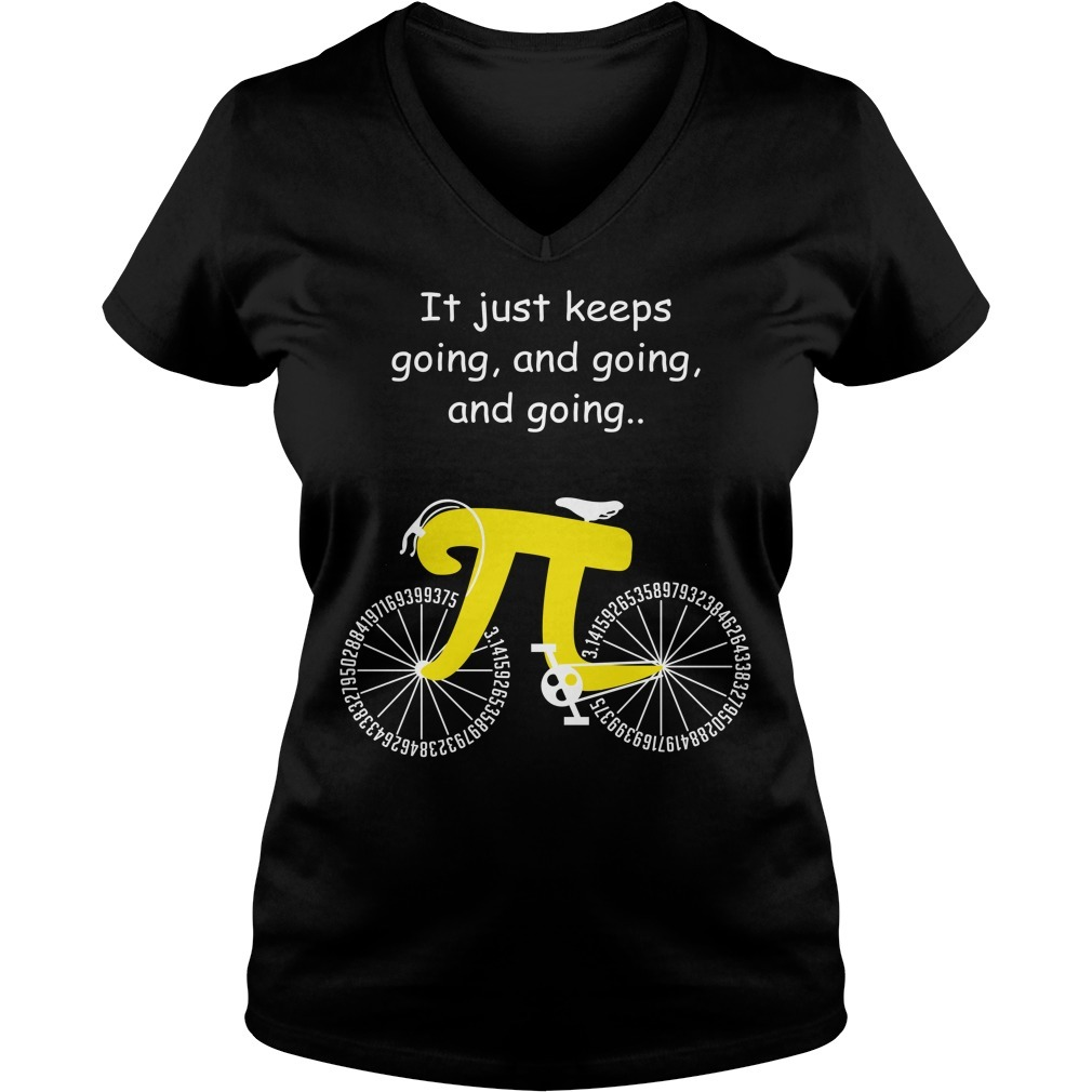Pi cycle it just keeps going and going and going V-neck T-shirt