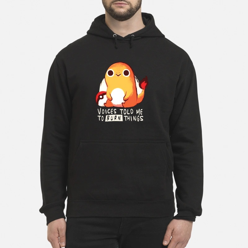 Pokemon voices told me to burn things Hoodie