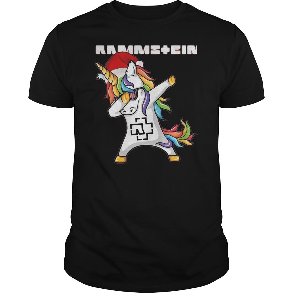 Santa unicorn dabbing rammstein Guys Shirt