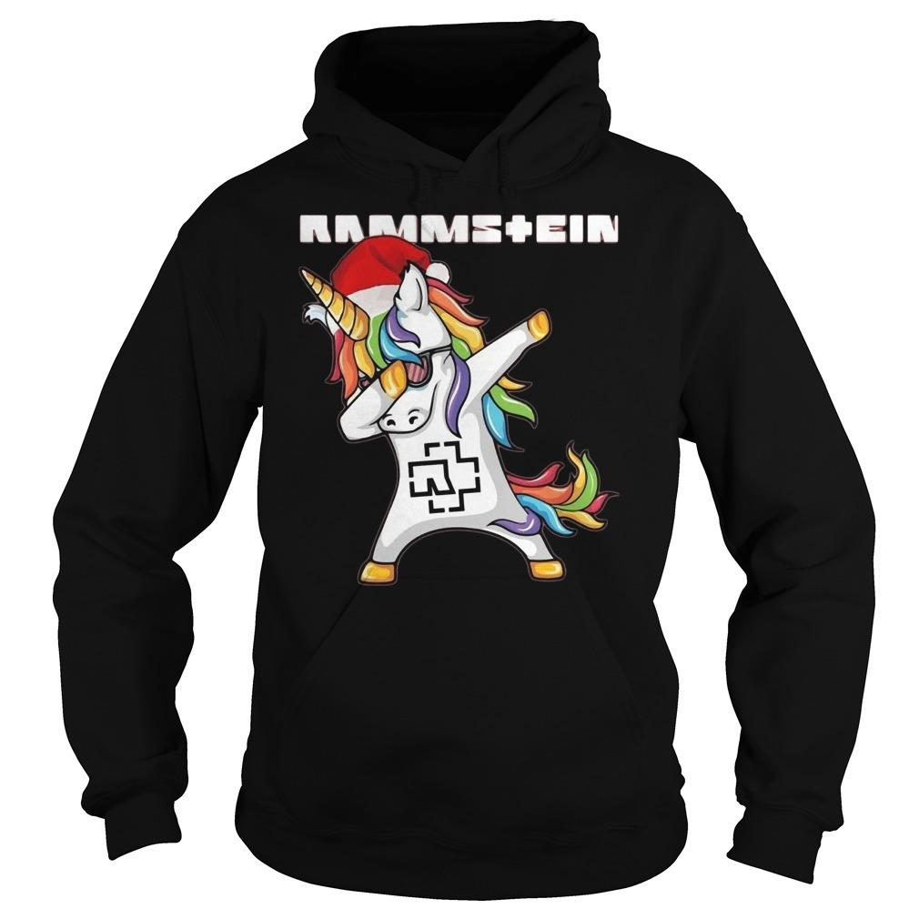 Santa unicorn dabbing rammstein Hoodie