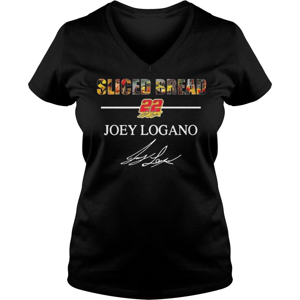 Sliced Bread 22 Joey Logano signature V-neck T-shirt
