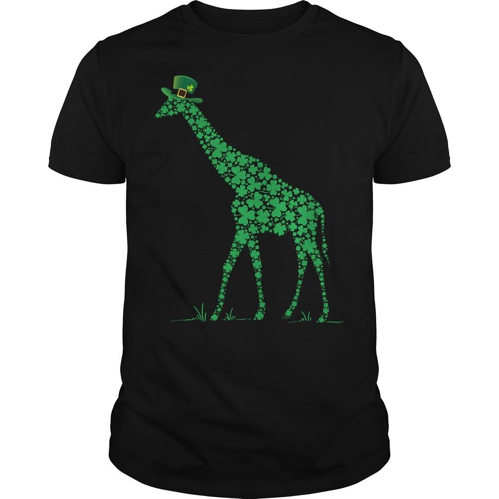 St Patrick's day giraffe Guys Shirt