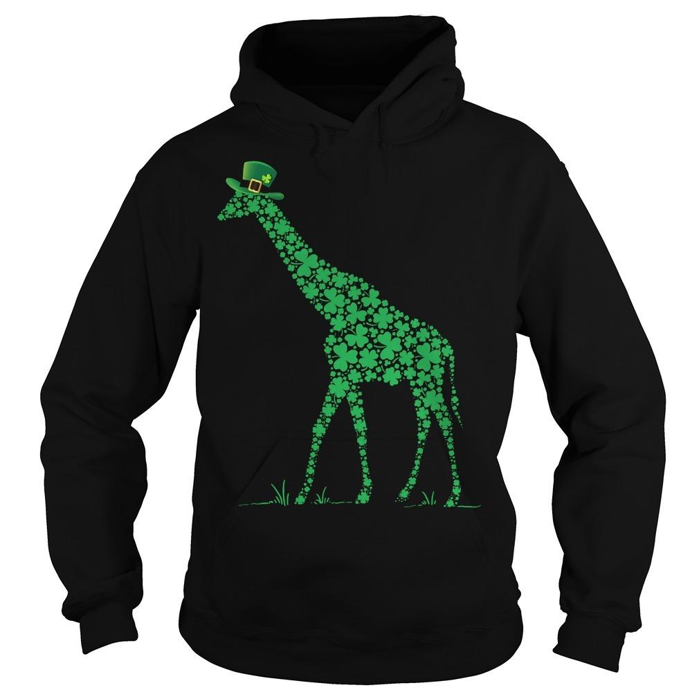 St Patrick's day giraffe Hoodie